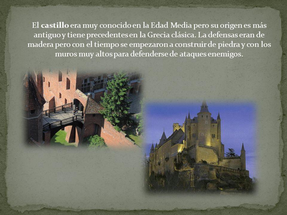 El castillo era muy conocido en la Edad Media pero su origen es más antiguo y tiene precedentes en la Grecia clásica.