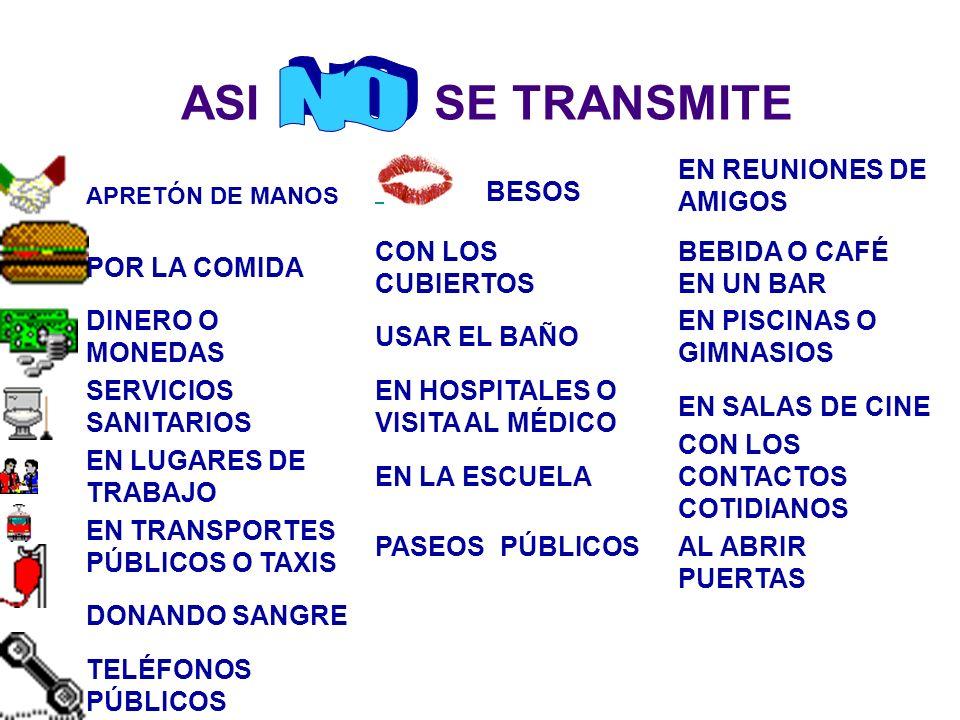 ASI SE TRANSMITE NO EN REUNIONES DE AMIGOS POR LA COMIDA