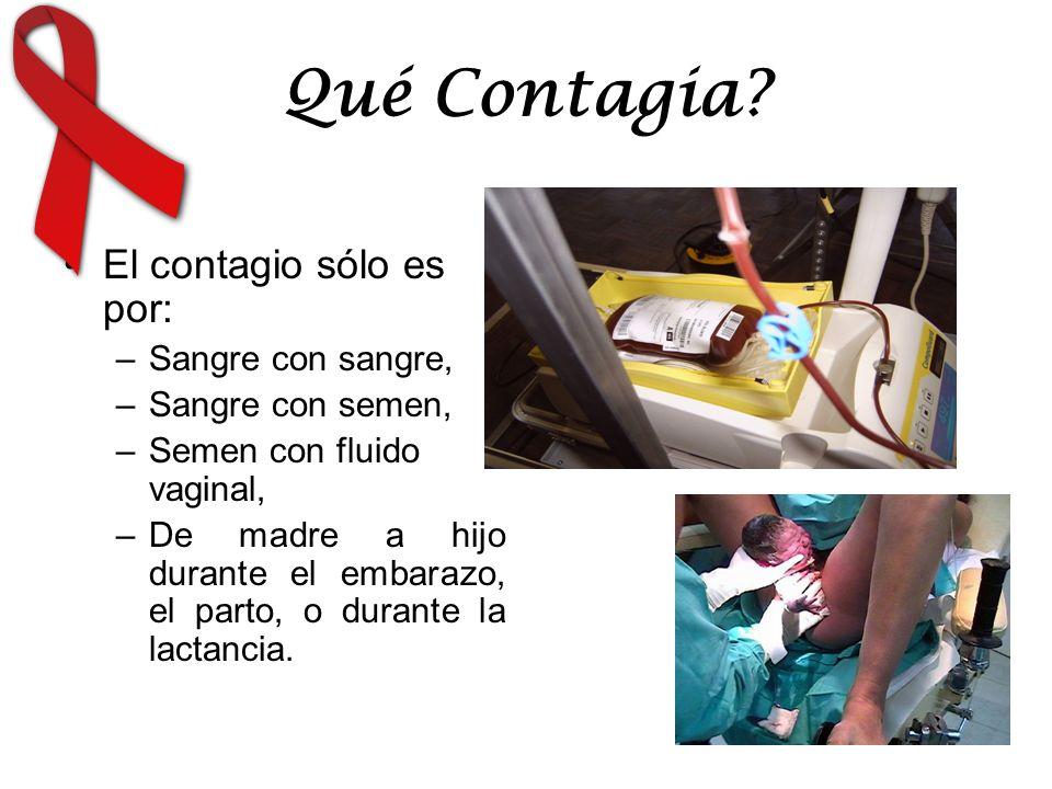 Qué Contagia El contagio sólo es por: Sangre con sangre,