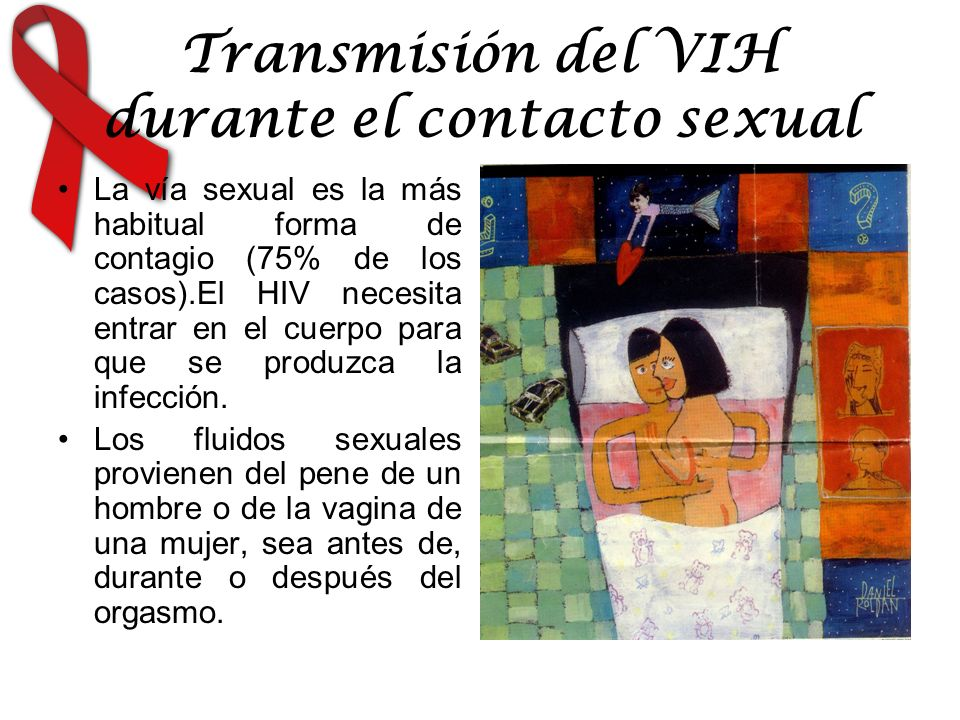 Transmisión del VIH durante el contacto sexual
