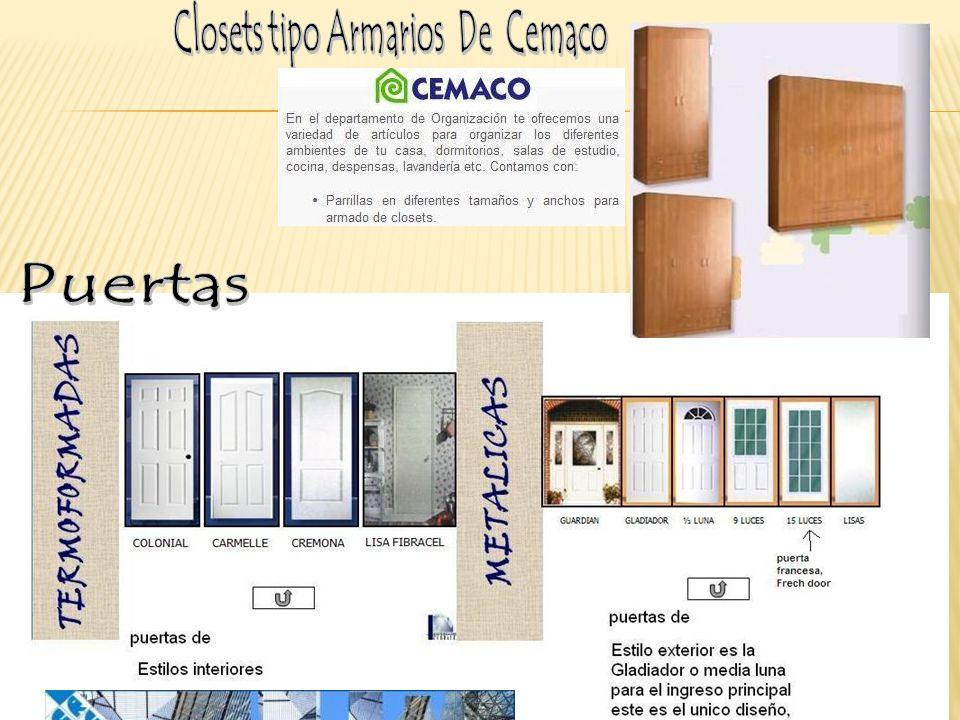 Closets tipo Armarios De Cemaco