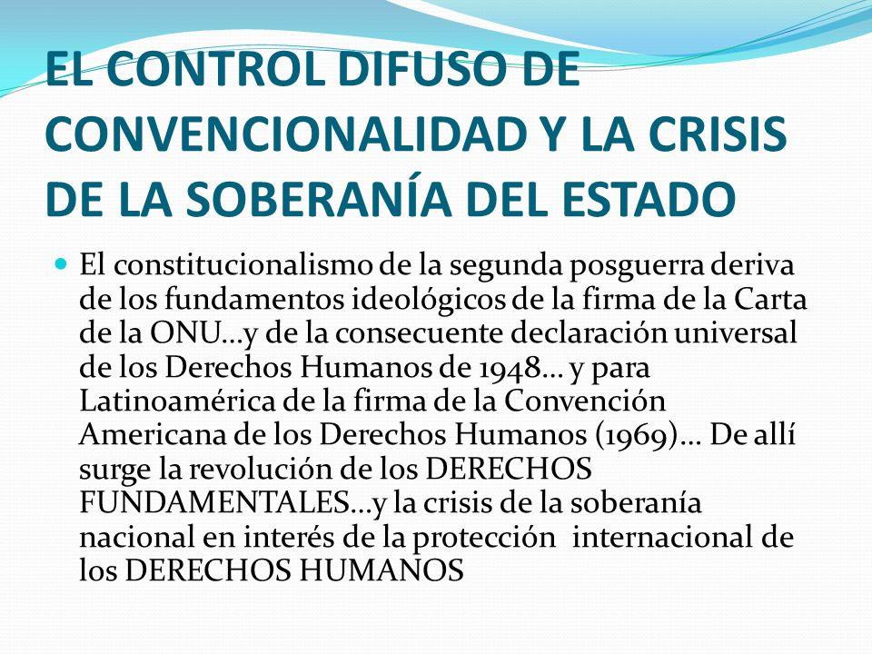 EL CONTROL DIFUSO DE CONVENCIONALIDAD Y LA CRISIS DE LA SOBERANÍA DEL ESTADO