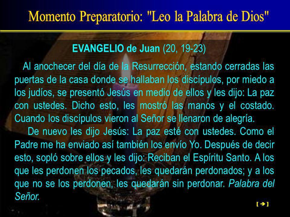 Momento Preparatorio: Leo la Palabra de Dios