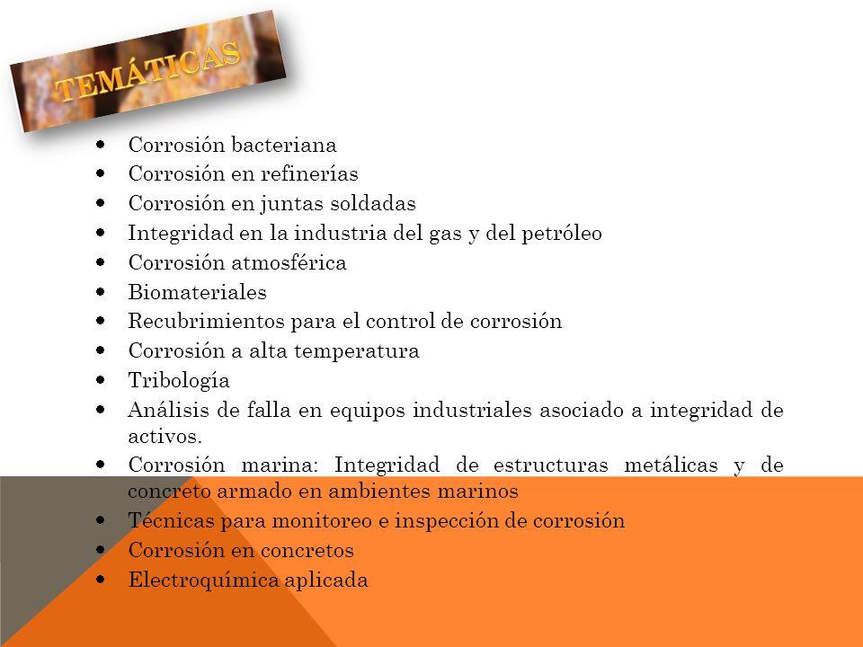TEMÁTICAS Corrosión bacteriana Corrosión en refinerías