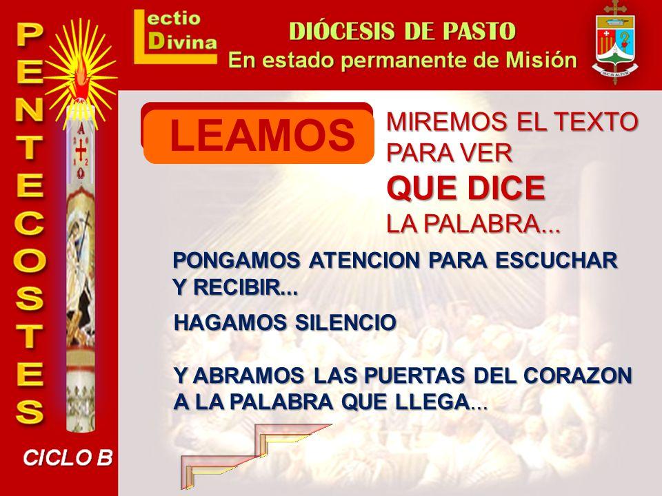 LEAMOS QUE DICE MIREMOS EL TEXTO PARA VER LA PALABRA...