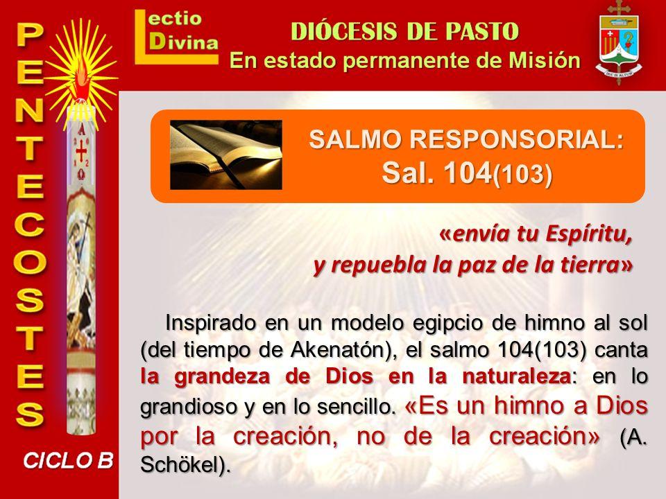 SALMO RESPONSORIAL: Sal. 104(103)