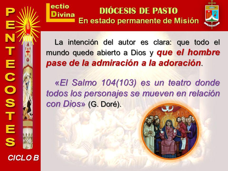 La intención del autor es clara: que todo el mundo quede abierto a Dios y que el hombre pase de la admiración a la adoración.