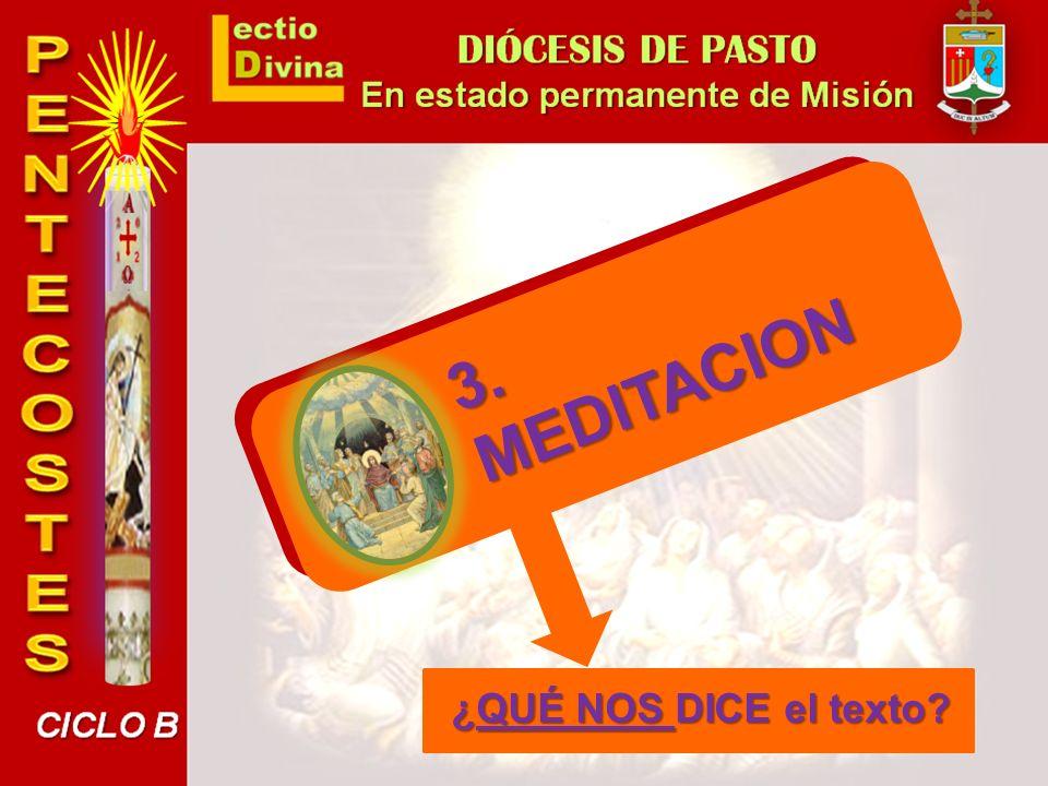 MEDITACION 3. ¿QUÉ NOS DICE el texto
