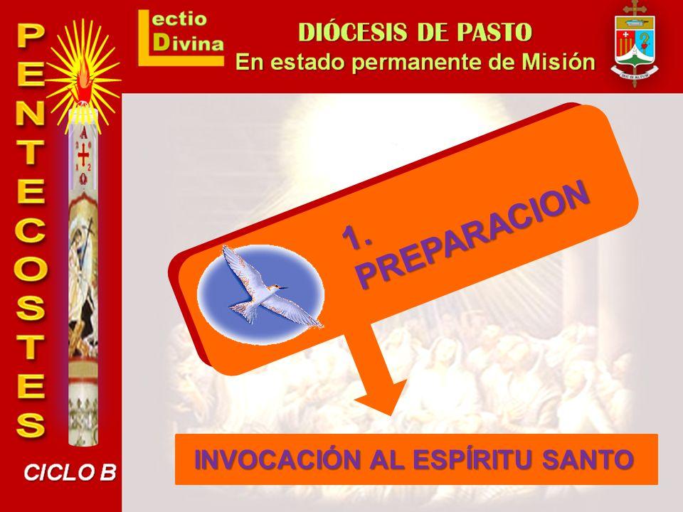 PREPARACION 1. INVOCACIÓN AL ESPÍRITU SANTO