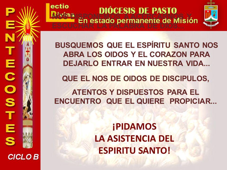 ¡PIDAMOS LA ASISTENCIA DEL ESPIRITU SANTO!