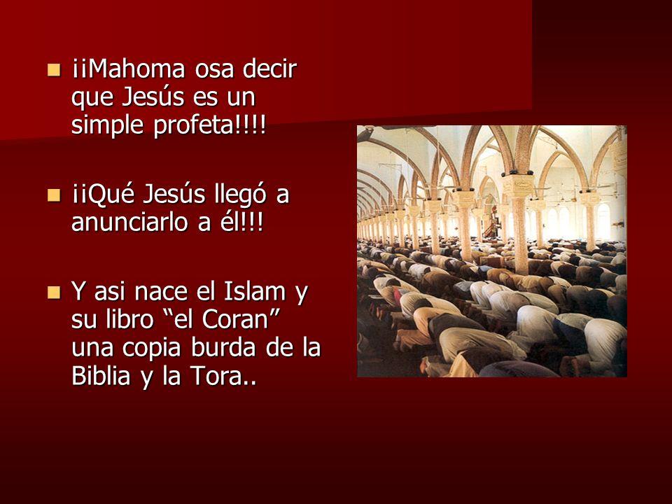 ¡¡Mahoma osa decir que Jesús es un simple profeta!!!!