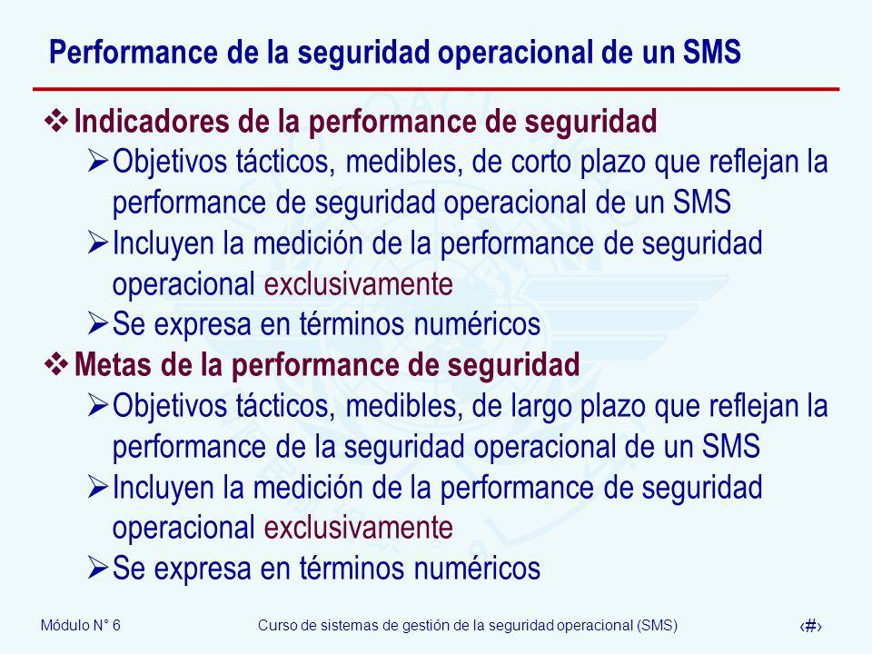 Performance de la seguridad operacional de un SMS