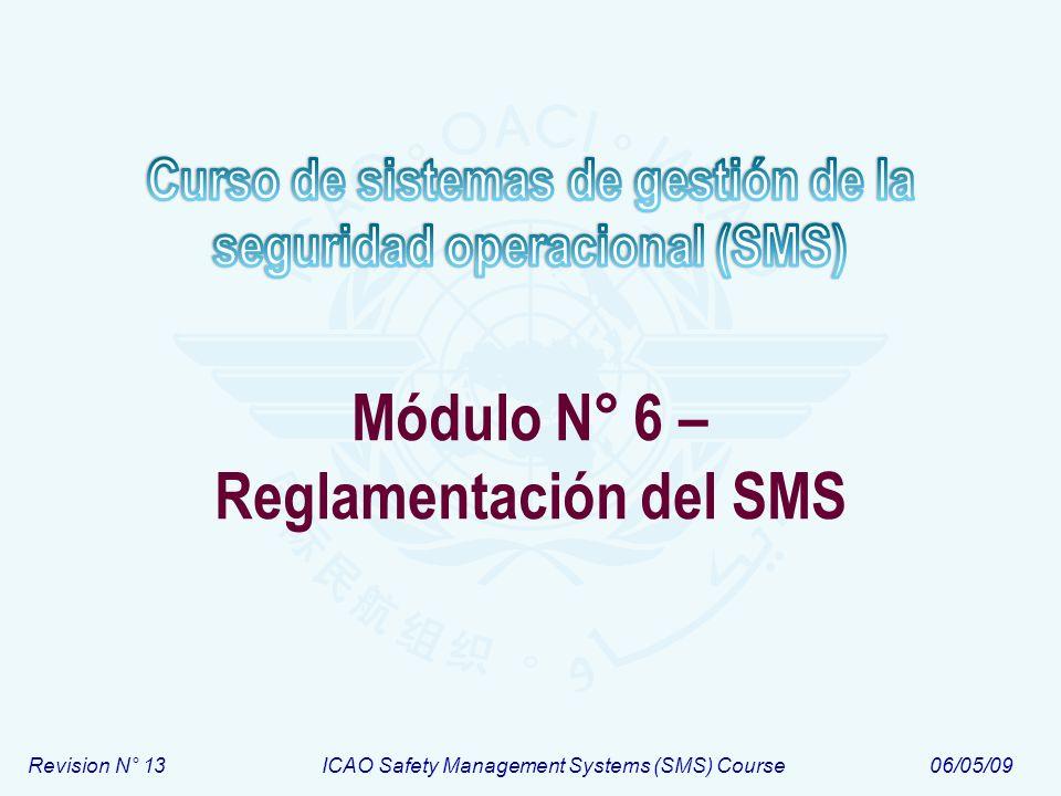 Módulo N° 6 – Reglamentación del SMS