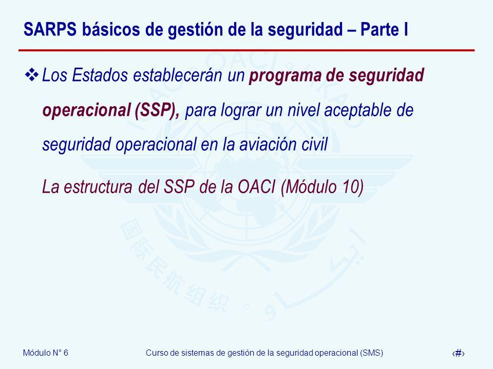 SARPS básicos de gestión de la seguridad – Parte I