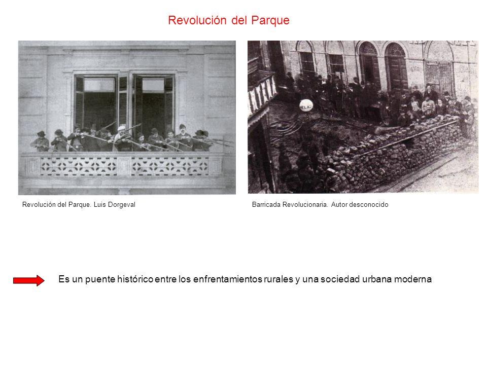 Revolución del Parque Revolución del Parque. Luis Dorgeval. Barricada Revolucionaria. Autor desconocido.