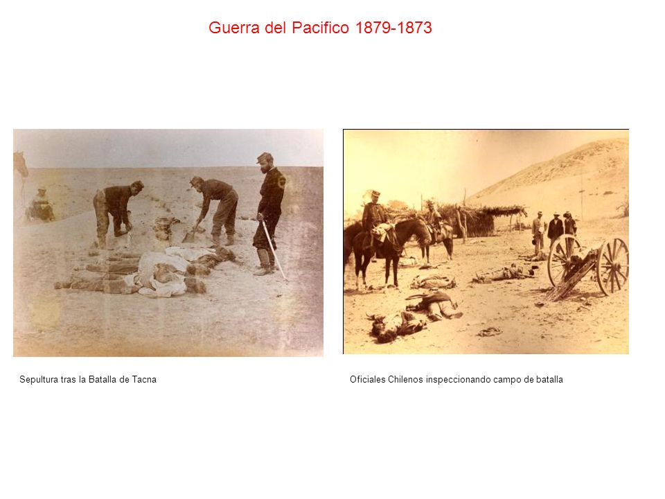 Guerra del Pacifico 1879-1873 Sepultura tras la Batalla de Tacna
