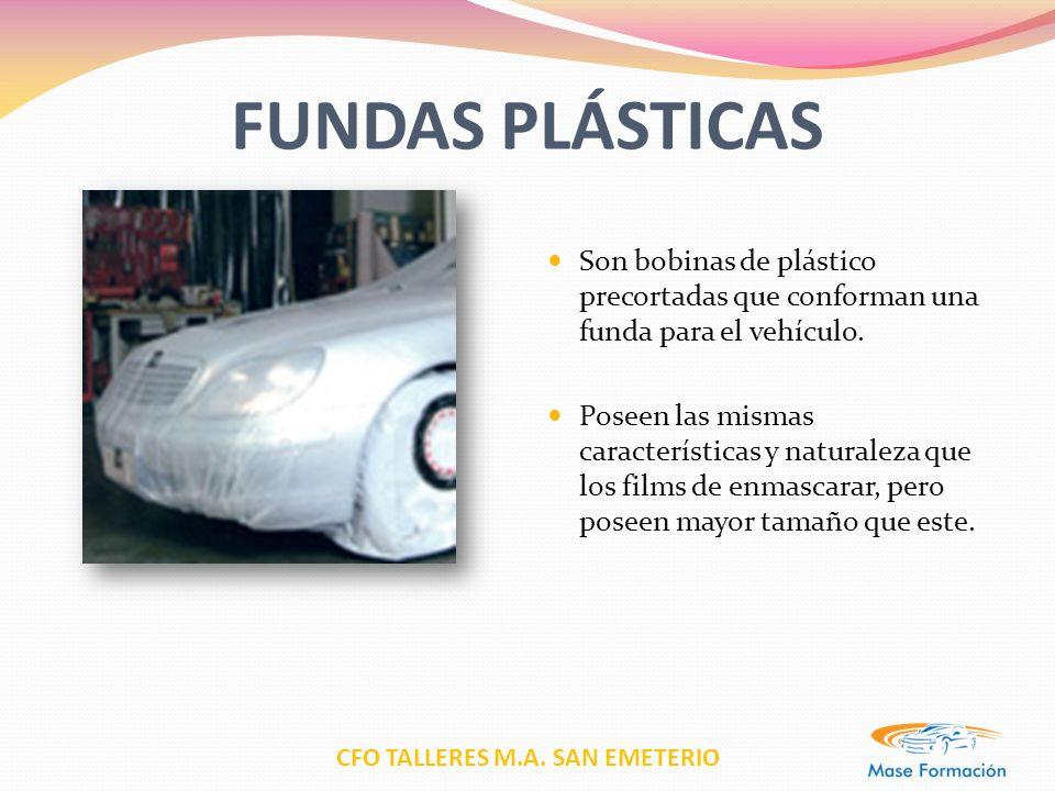 FUNDAS PLÁSTICAS Son bobinas de plástico precortadas que conforman una funda para el vehículo.