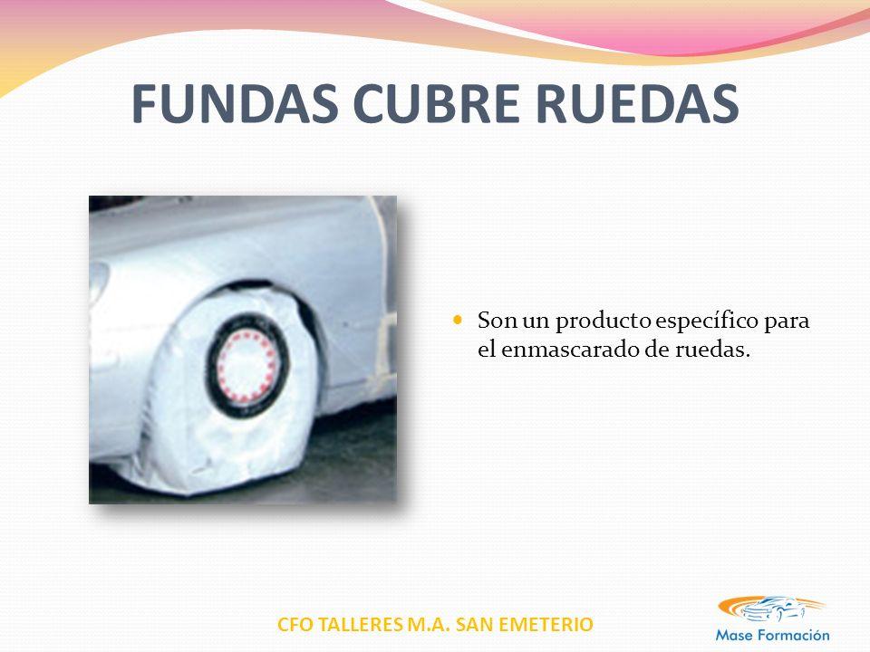 FUNDAS CUBRE RUEDAS Son un producto específico para el enmascarado de ruedas.