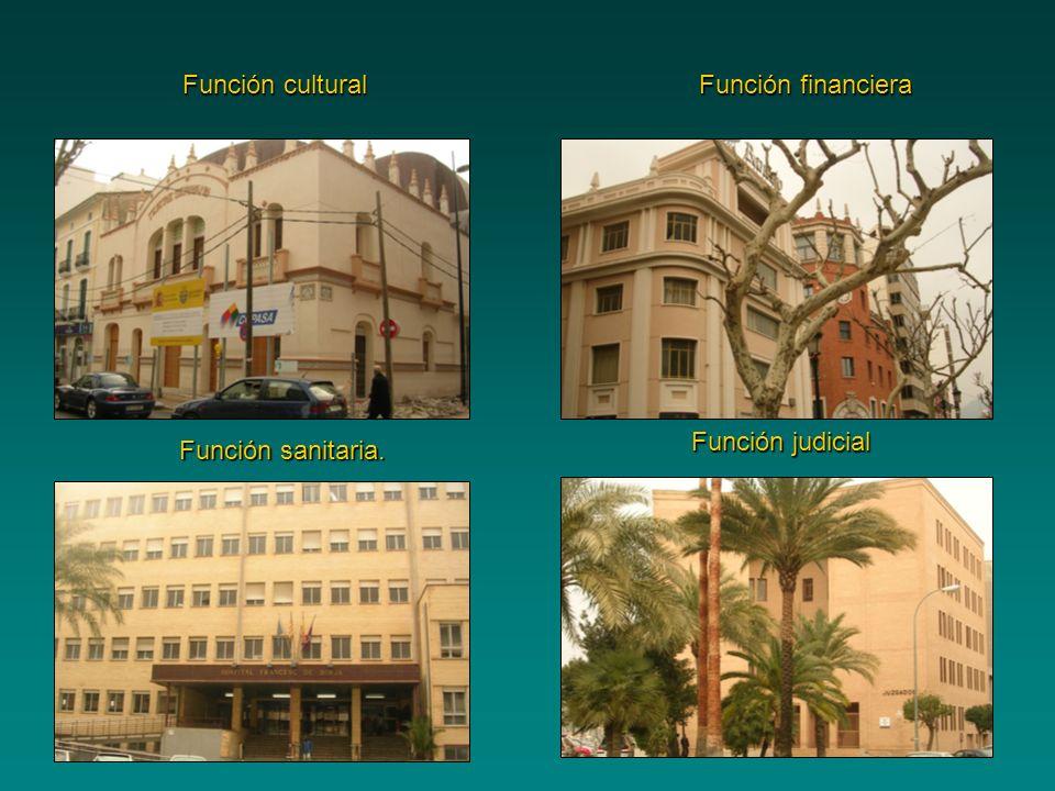 Función cultural Función financiera Función judicial Función sanitaria.