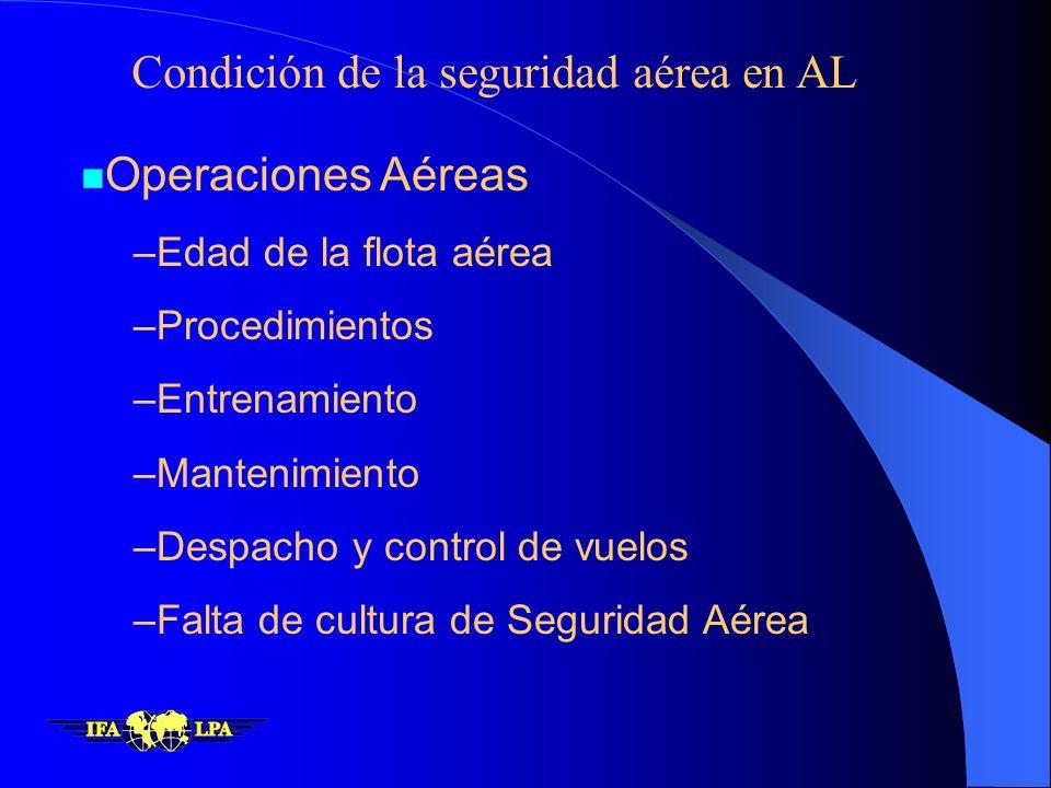 Condición de la seguridad aérea en AL