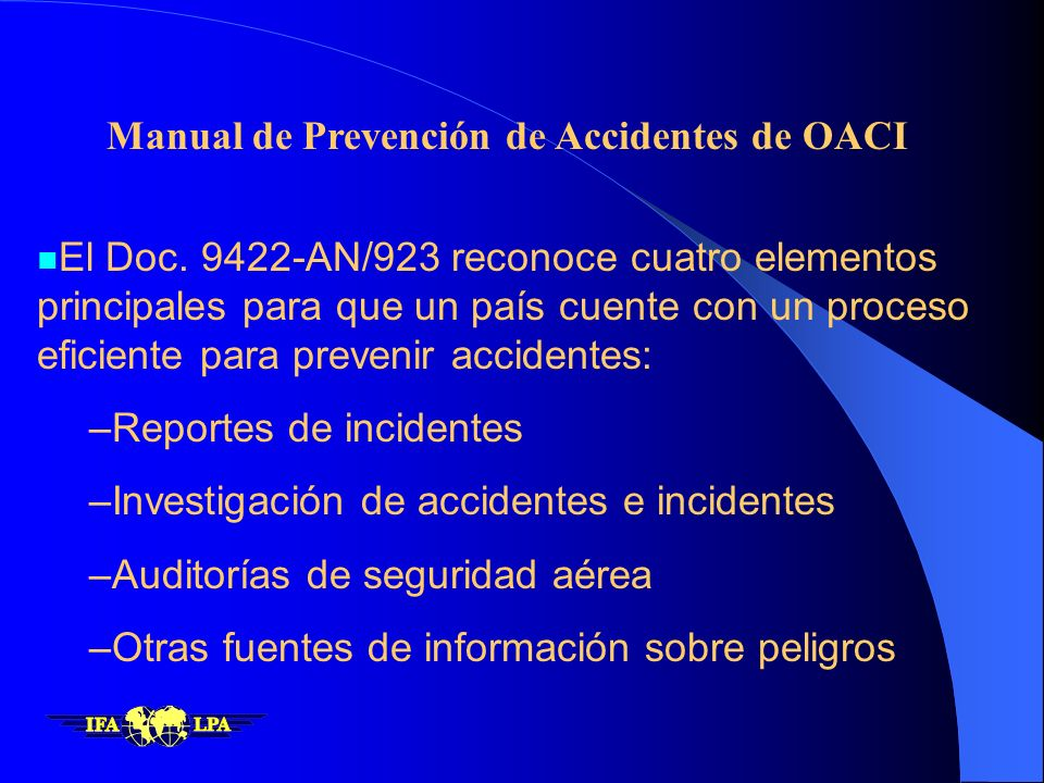 Manual de Prevención de Accidentes de OACI