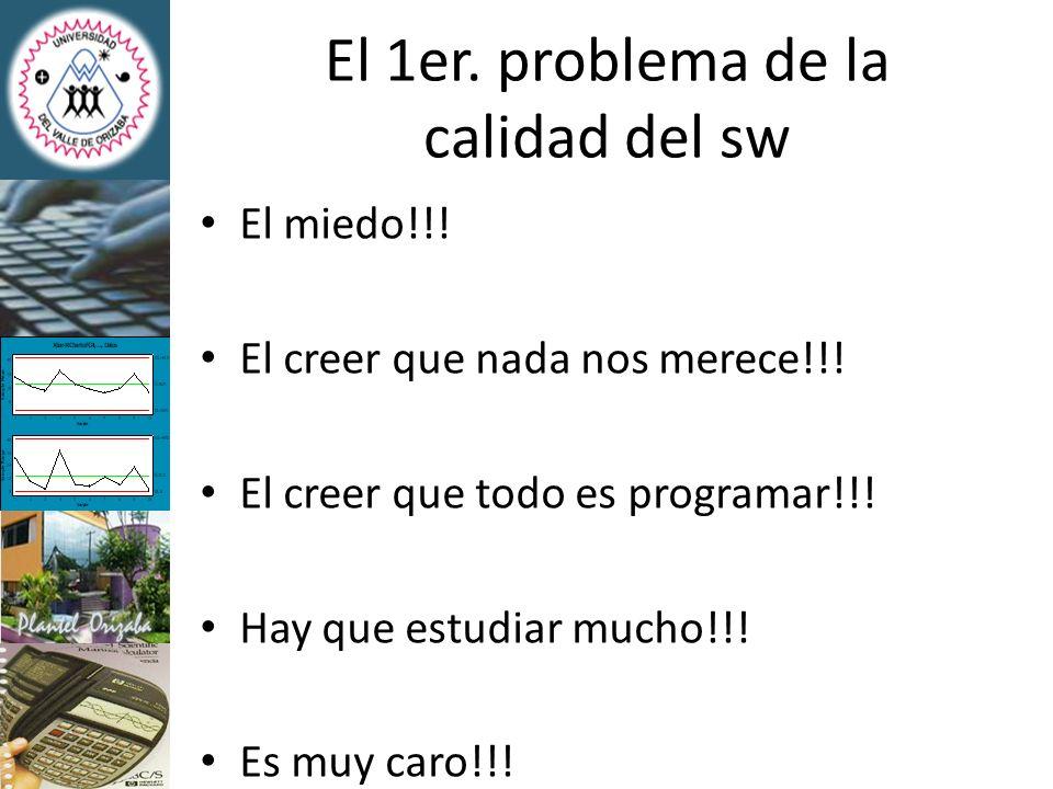 El 1er. problema de la calidad del sw