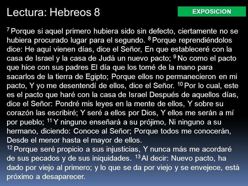 Lectura: Hebreos 8 EXPOSICION.
