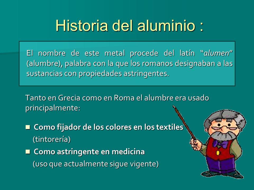 Historia del aluminio :