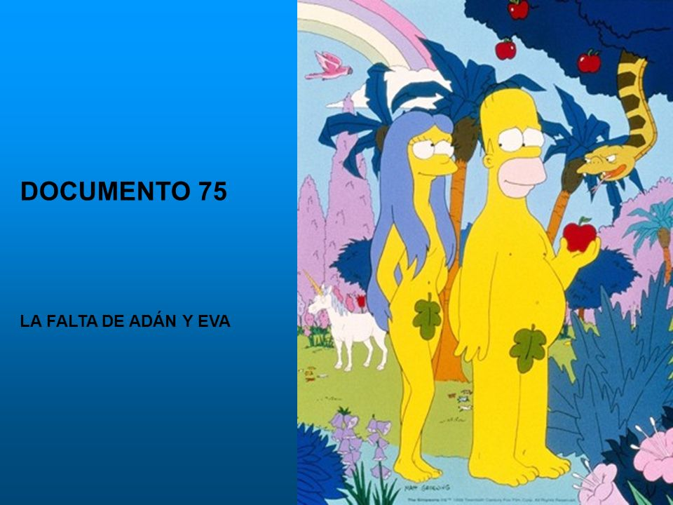 DOCUMENTO 75 LA FALTA DE ADÁN Y EVA