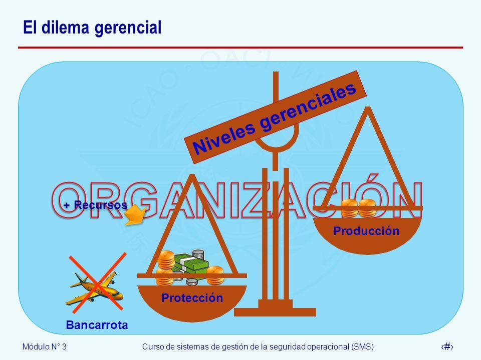 ORGANIZACIÓN El dilema gerencial Niveles gerenciales + Recursos