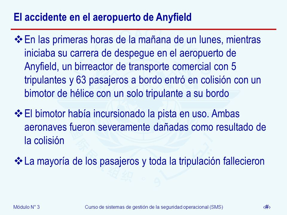 El accidente en el aeropuerto de Anyfield