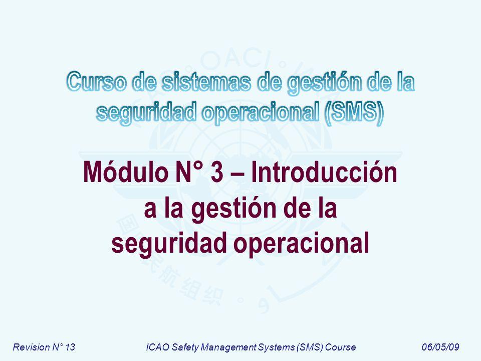 Módulo N° 3 – Introducción a la gestión de la seguridad operacional
