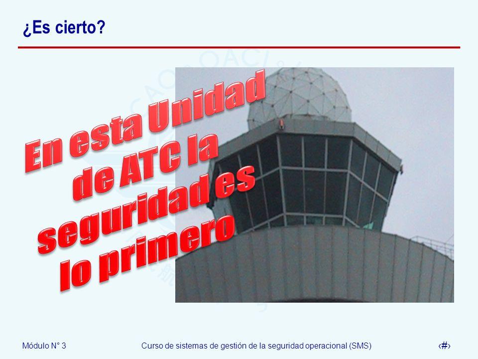 En esta Unidad de ATC la seguridad es lo primero