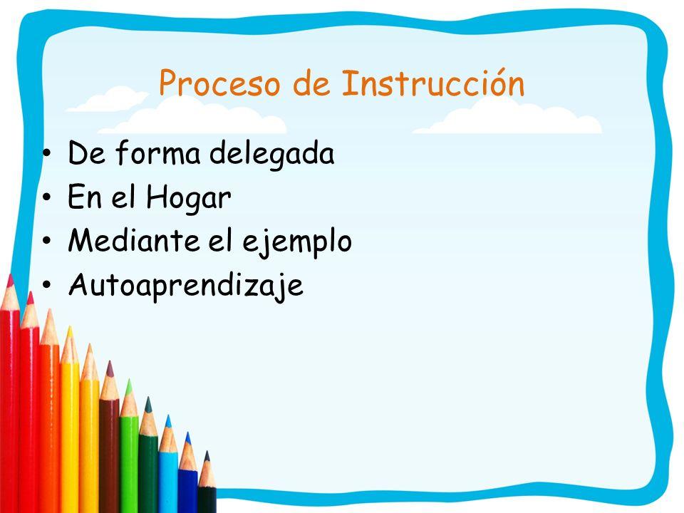 Proceso de Instrucción