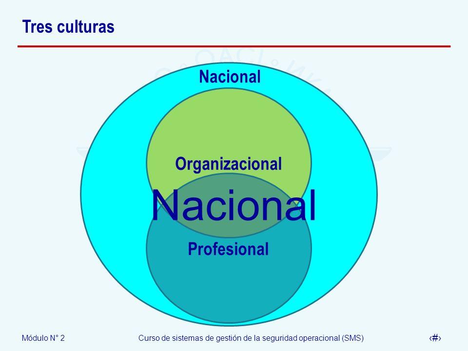 Tres culturas Nacional Organizacional Nacional Profesional