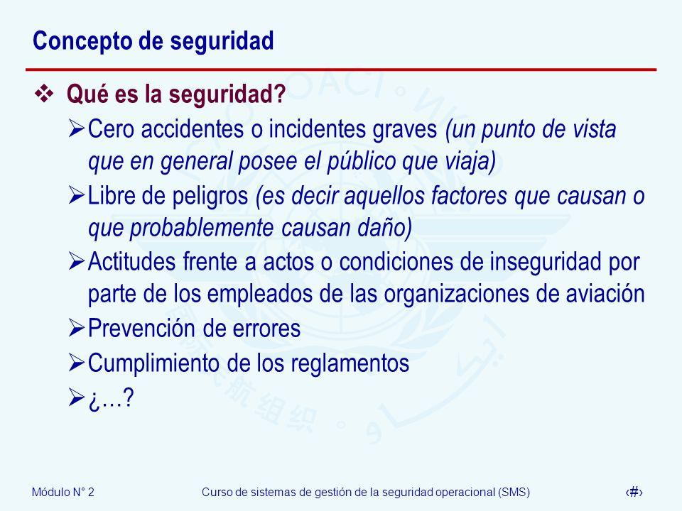 Concepto de seguridad Qué es la seguridad Cero accidentes o incidentes graves (un punto de vista que en general posee el público que viaja)