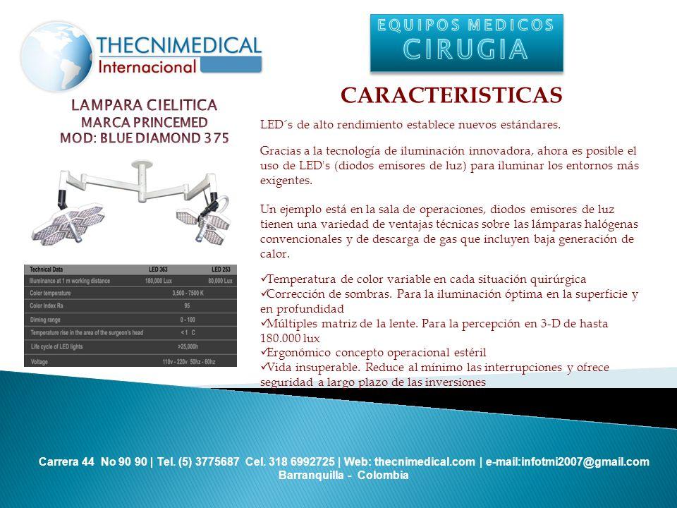 CIRUGIA CARACTERISTICAS EQUIPOS MEDICOS LAMPARA CIELITICA