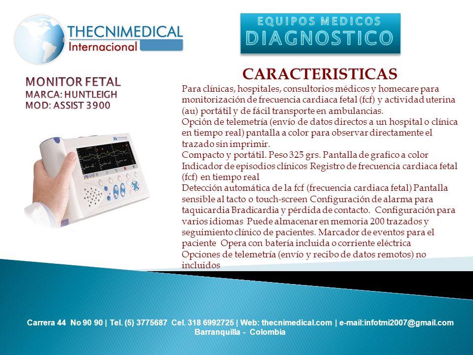 DIAGNOSTICO CARACTERISTICAS MONITOR FETAL EQUIPOS MEDICOS
