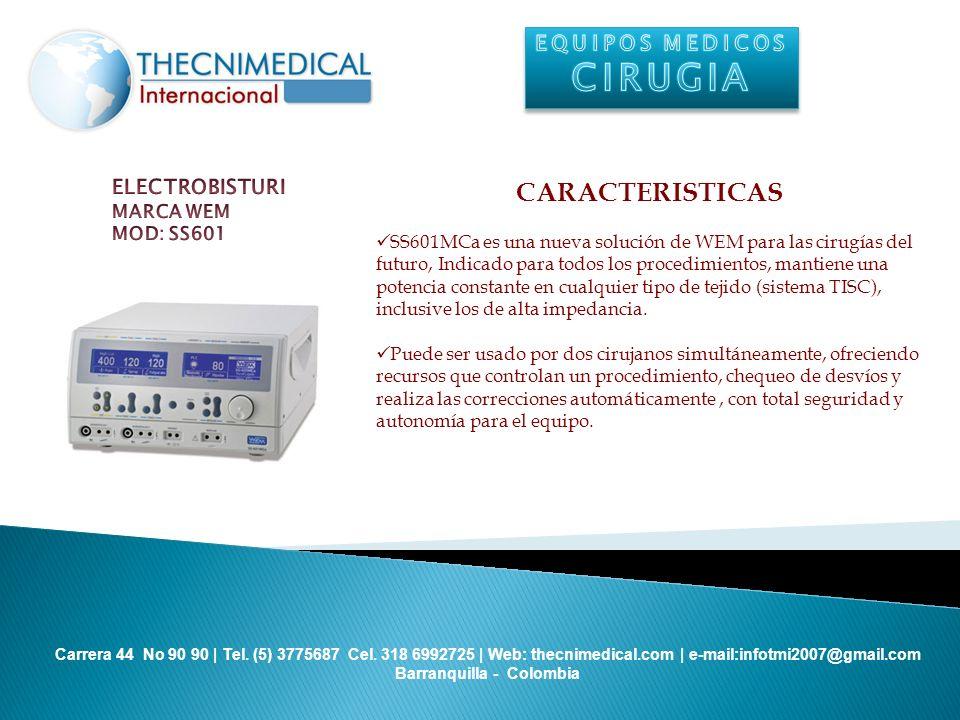 CIRUGIA CARACTERISTICAS EQUIPOS MEDICOS ELECTROBISTURI MARCA WEM