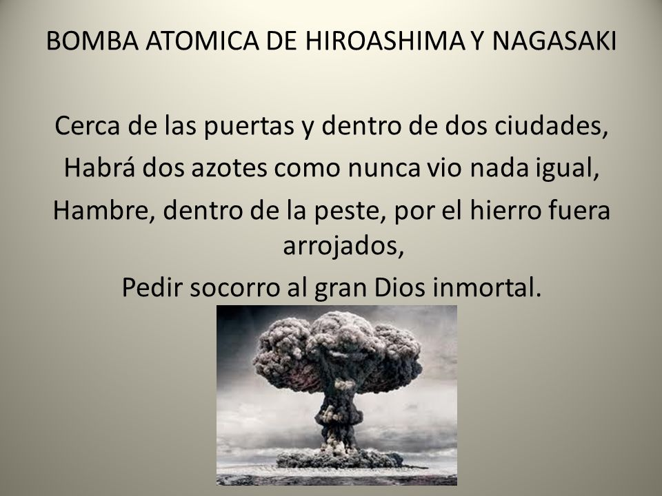 BOMBA ATOMICA DE HIROASHIMA Y NAGASAKI