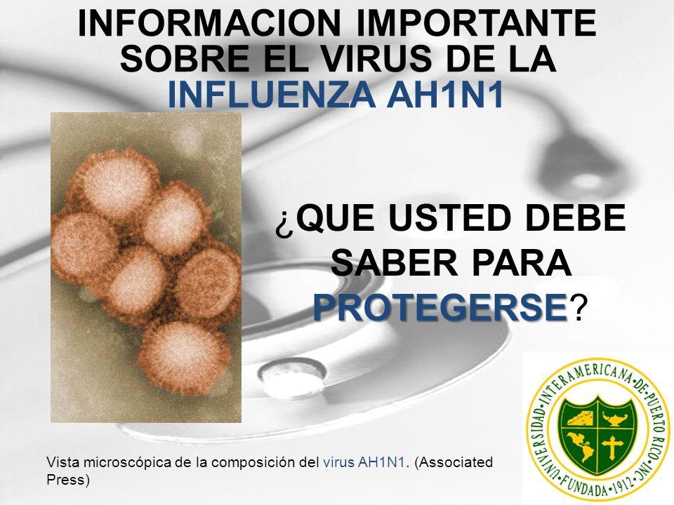 INFORMACION IMPORTANTE SOBRE EL VIRUS DE LA INFLUENZA AH1N1