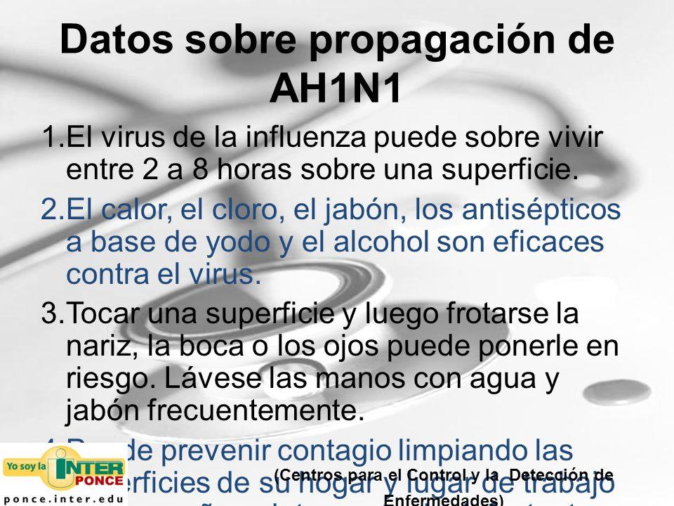 Datos sobre propagación de AH1N1