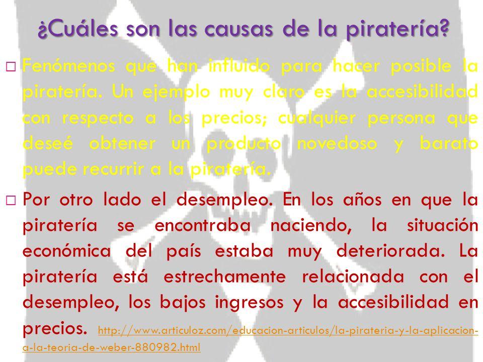 ¿Cuáles son las causas de la piratería