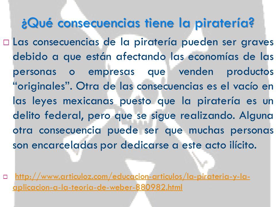 ¿Qué consecuencias tiene la piratería
