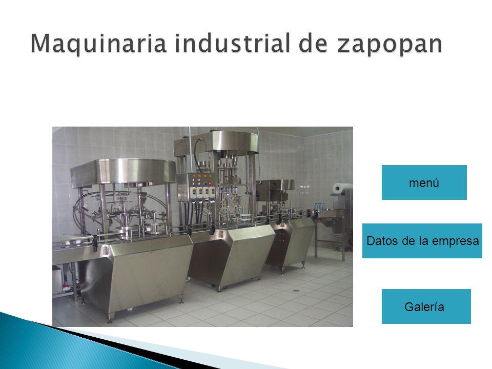 Maquinaria industrial de zapopan