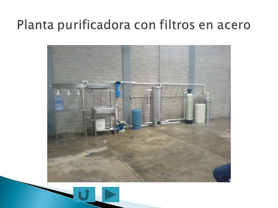 Planta purificadora con filtros en acero