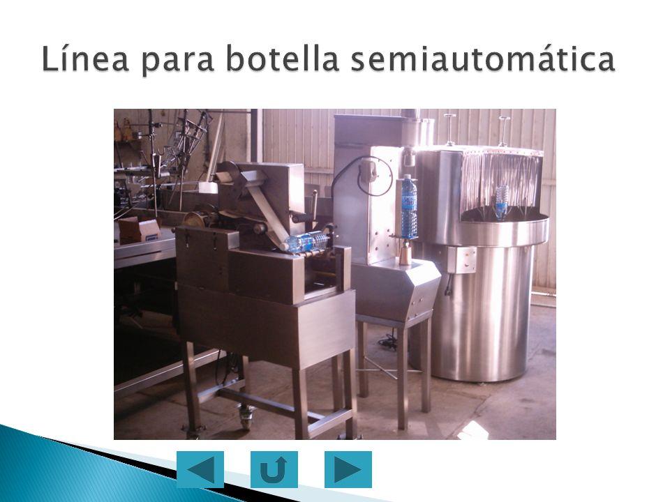 Línea para botella semiautomática