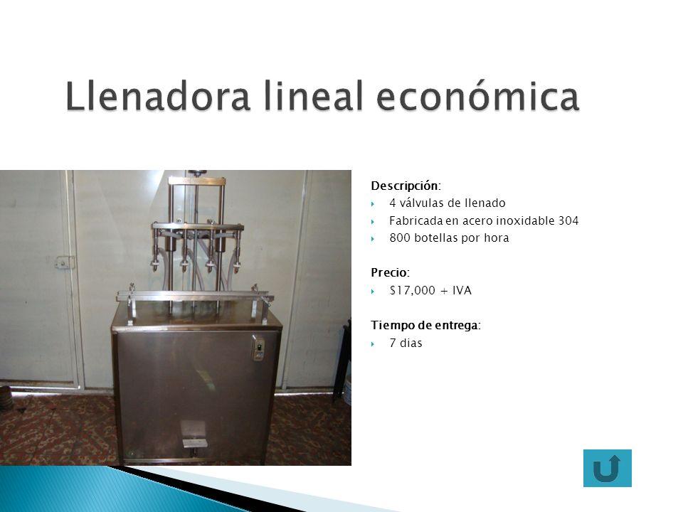 Llenadora lineal económica