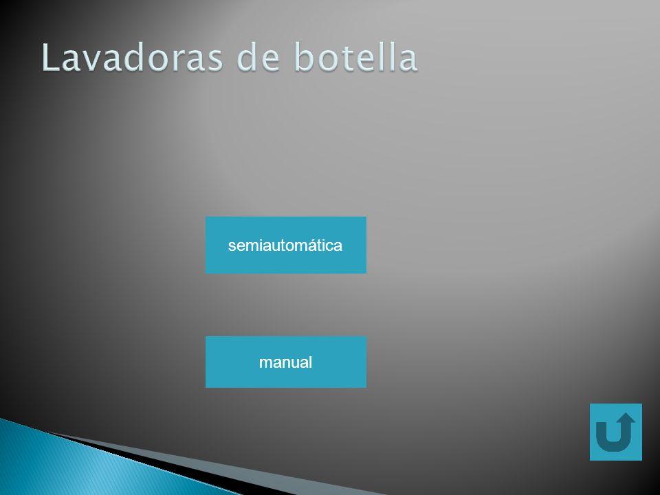 Lavadoras de botella semiautomática manual
