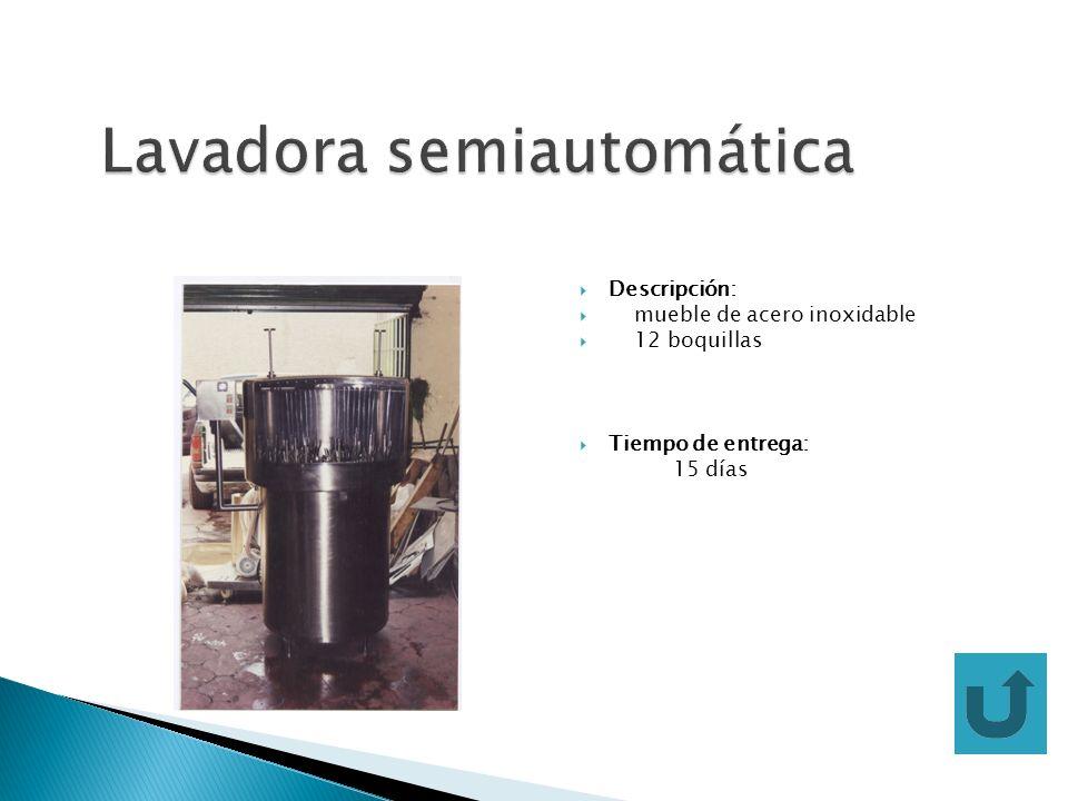 Lavadora semiautomática